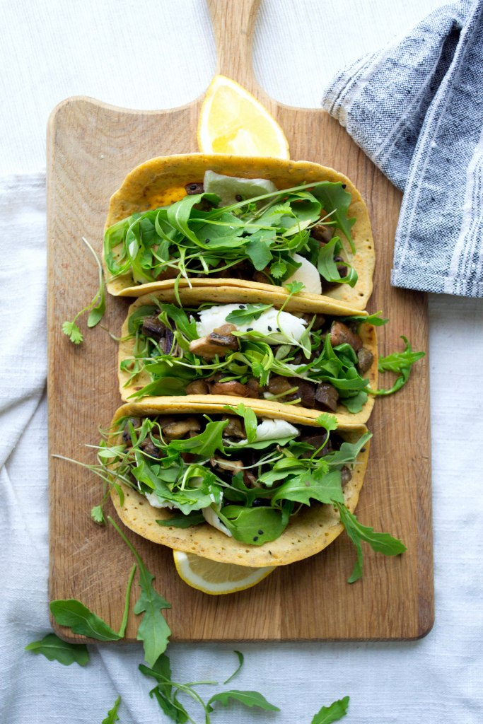 Chickpea and buckwheat flour tacos
